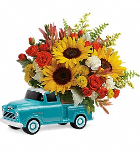 Teleflora's Chevy Pickup Bouquet in Boone NC, Log House Florist