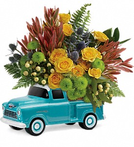 Timeless Chevy Pickup by Teleflora in Williston ND, Country Floral