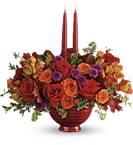 Teleflora's Brightest Bounty Centerpiece in Williston ND, Country Floral
