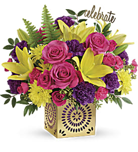 Teleflora's Colorful Celebration Bouquet in Los Angeles CA, RTI Tech Lab