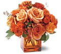 Teleflora's Orange Rose Mosaic in Oklahoma City OK Array of Flowers & Gifts