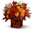 Teleflora's Fine Fall Roses in Oklahoma City OK Array of Flowers & Gifts