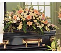 Peach Comfort Half-Couch Spray in Oklahoma City OK Array of Flowers & Gifts