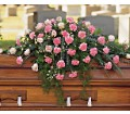 Heavenly Pink Casket Spray in Naples FL Gene's 5th Ave Florist