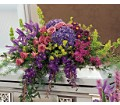 Graceful Tribute Casket Spray in Oklahoma City OK Array of Flowers & Gifts