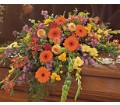 Summer Sentiments Casket Spray in Timmins ON Timmins Flower Shop Inc.