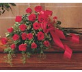 Red Rose Tribute Casket Spray in Oklahoma City OK Array of Flowers & Gifts