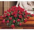 Blooming Red Roses Casket Spray in Naples FL Gene's 5th Ave Florist