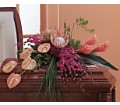 Tropical Paradise Casket Spray in Timmins ON Timmins Flower Shop Inc.