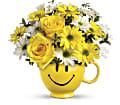 Teleflora's Be Happy Bouquet with Roses in Oklahoma City OK Capitol Hill Florist and Gifts