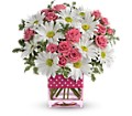 Teleflora's Polka Dots and Posies in Bakersfield CA White Oaks Florist