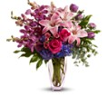 Teleflora's Purple Perfection in New York NY Fellan Florists Floral Galleria