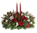 Christmas Wishes Centerpiece in Fredonia NY Fresh & Fancy Flowers & Gifts