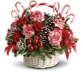 Candy Cane Christmas in New York NY Fellan Florists Floral Galleria