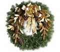 Glitter & Gold Wreath in Bakersfield CA White Oaks Florist