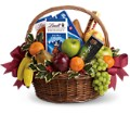 Fruits and Sweets Christmas Basket in Sayville NY Sayville Flowers Inc