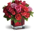 Madly in Love Bouquet with Red Roses by Teleflora in Bluffton IN Posy Pot