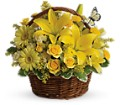 Basket Full of Wishes in Spring TX A Yellow Rose Floral Boutique