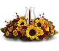Sunflower Centerpiece in Fort Worth TX TCU Florist