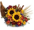 Classic Cornucopia in Beaumont TX Blooms by Claybar Floral