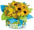 Teleflora's Sunny Birthday Present in West Chester OH Petals & Things Florist