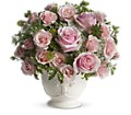 Teleflora's Parisian Pinks with Roses in Royersford PA Three Peas In A Pod Florist