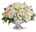 Teleflora's Park Avenue Centerpiece in East Quogue NY Roses And Rice
