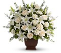 Teleflora's Loving Lilies and Roses Bouquet in Abington MA The Hutcheon's Flower Co, Inc.