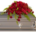 Red Rose Sanctuary Casket Spray in Bakersfield CA White Oaks Florist