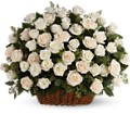 Bountiful Rose Basket in Bakersfield CA White Oaks Florist