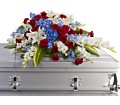Distinguished Service Casket Spray in Muskegon MI Wasserman's Flower Shop