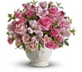 Teleflora's Pink Potpourri Bouquet with Roses in Benton Harbor MI Crystal Springs Florist