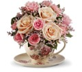 Teleflora's Victorian Teacup Bouquet in Abington MA The Hutcheon's Flower Co, Inc.
