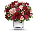 Teleflora's Love Medley Bouquet with Red Roses in Oshkosh WI Flowers & Leaves LLC