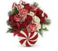 Teleflora's Peppermint Christmas Bouquet in San Diego CA Eden Flowers & Gifts Inc.