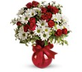 Red White And You Bouquet by Teleflora in Oakland City IN Sue's Flowers & Gifts