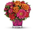 Teleflora's Turn Up The Pink Bouquet in Battle Creek MI Swonk's Flower Shop