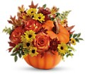 Teleflora's Warm Fall Wishes Bouquet in Vancouver BC Davie Flowers
