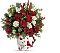 Send a Hug Christmas Cardinal by Teleflora in Bradford ON Linda's Floral Designs