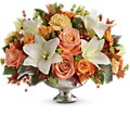 Teleflora's Harvest Shimmer Centerpiece in North York ON Secret Garden