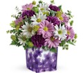 Teleflora's Dancing Violets Bouquet in Bowmanville ON Bev's Flowers