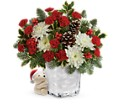 Send a Hug Bear Buddy Bouquet by Teleflora in Fredericksburg VA Finishing Touch Florist