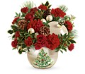 Teleflora's Classic Pearl Ornament Bouquet in College Park MD Wood's Flowers and Gifts