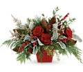 Winter Blooms Centerpiece in Beaumont CA Oak Valley Florist