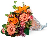 Teleflora's Waterford Crystal Cornucopia in Bayonne NJ, Blooms For You Floral Boutique