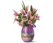 Teleflora's Charming Chocolate Egg Bouquet in Royal Oak MI, Rangers Floral Garden