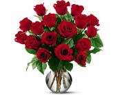 18 Red Roses in Kalamazoo MI, Ambati Flowers