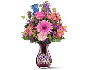 Teleflora's Fenton Art Glass Bouquet in New Britain CT, Weber's Nursery & Florist, Inc.