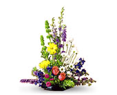 Larkspur and Delphinium Arrangement in Inglewood CA, Inglewood Park Flower Shop