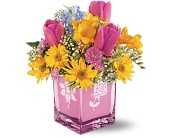 Teleflora's Burst of Spring Bouquet in Utica NY, Chester's Flower Shop And Greenhouses
